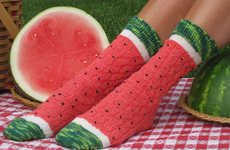 Knitted Watermelon Socks