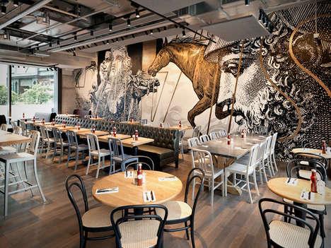 Ancient Art Restaurant Interiors