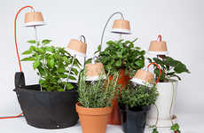 Urban Grow Lights - The Bulbo LED Grow Lights Are Perfect for Urban Indoor Farming