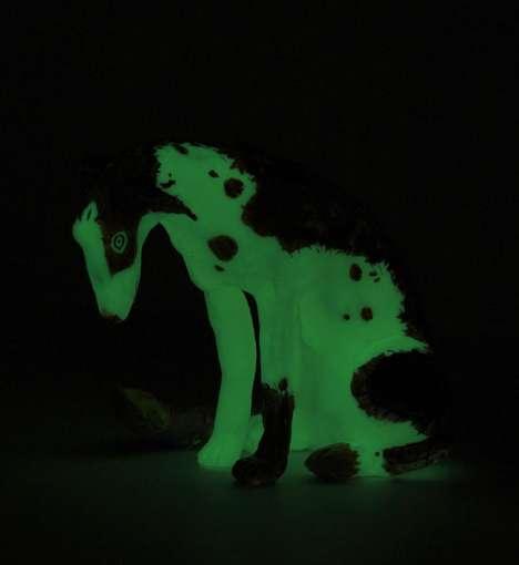Illuminated Canine Sculptures