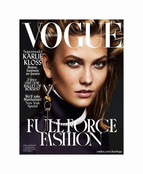 Metallic Supermodel Editorials