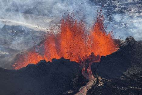Erupting Volcano Photography