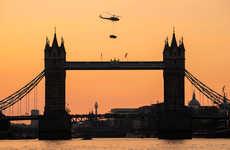 Aerial Car Promotions - A Jaguar XE S Was Flown Over London