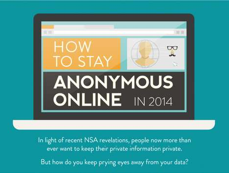 Internet Anonymity Charts - This Infographic Offers Privacy Tips on How to Stay Anonymous Online