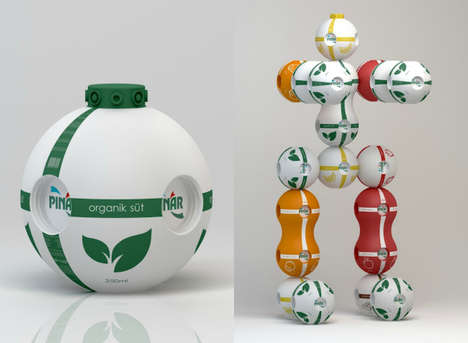 Transformative Juice Bottles - Pinar Sut's Juice Bottle Packaging Can Turn into a Toy After Use