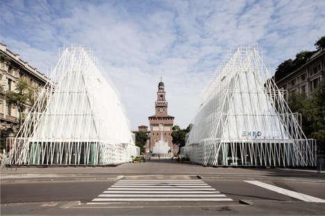Triangular Castle Pavilions