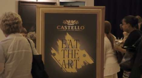Cheesy Museum Pop-Ups - Castello's Pop-Up Cheese Tasting Appeals to Multiple Senses