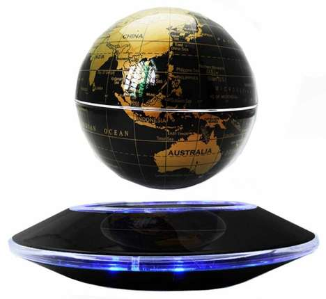 Levitating World Globes