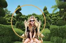 Regally Shady Campaigns - Georgia May Jagger is Modern Royalty in the Sunglass Hut 2014 Campaign