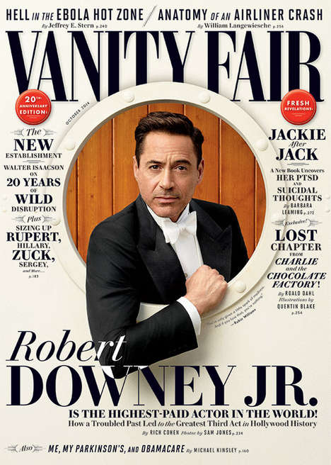 Actor Robert Downey Jr. Poses With his Son for Vanity Fair