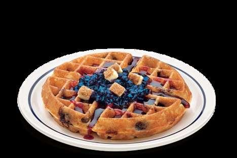Fruity Cheesecake Waffles