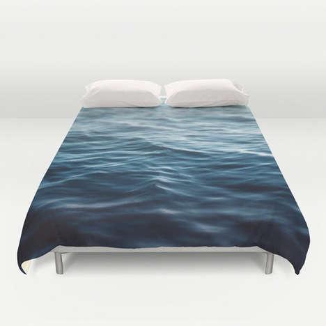 Oceanic Bedspread Decor