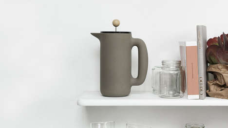 Stone French Presses - The Push Coffee Pot by Muuto Rethinks the Use of Fragile Glass