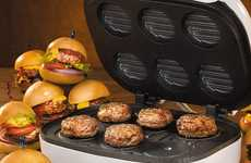 Miniature Burger Makers - The Electric Mini Burger Maker is Ideal for Customizing Your Own Sliders