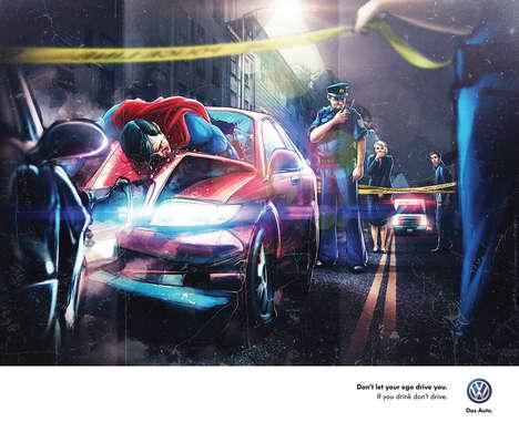 Drunk Driving Superhero Ads