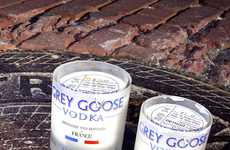 Liquor Candle Packaging - These Detroitwick Soy Candles Come in Upcycled Vodka Bottle Holders