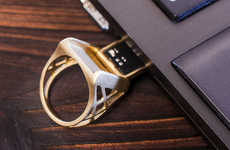 Flash Drive Rings - The UU-U Memory Ring is a Stylishly Wearable Jewelry USB Port Design