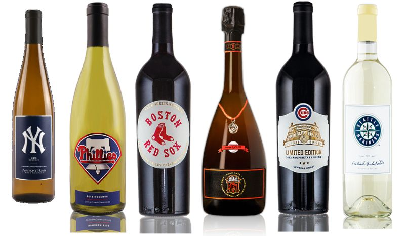 Patriotic Baseball Wines