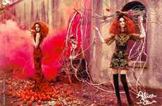 Fairy Tale Anime Fashion - The Latest Alice + Olivia Campaign Stars an Enchanting Lisa Cant