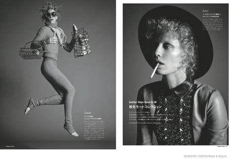 Dramatic Fall Fashion - The Latest Issue of Numero Tokyo Stars Model Natasa Vojnovic