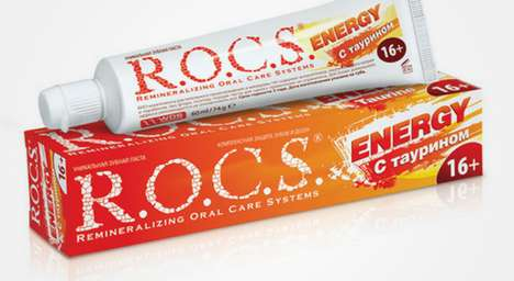 Energy-Boosting Toothpastes - The Energizing ROCS Taurine Products Offer a Big Morning Boost