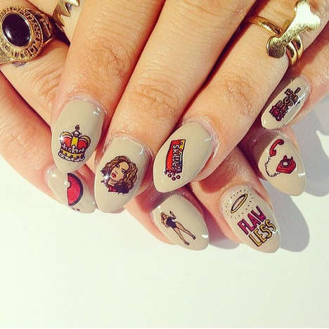 Cartoon Popstar Manicures