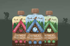 Oatmeal Smoothie Pouches - The Munk Pack's Snack Packaging Design Caters to Adventurers of All Ages