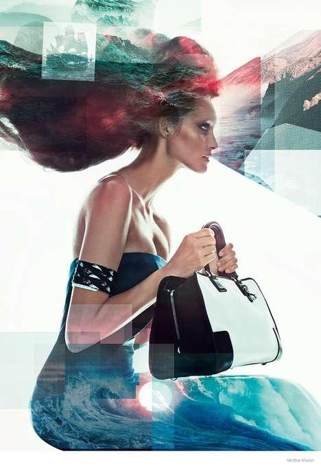 Superimposed Fashion Ads