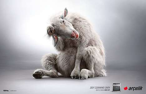 Self-Cleaning Animal Ads - The Arcelik Campaign Playfully Promotes an Oven that Cleans Itself