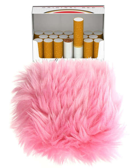 Chic Smoker Accessories - Shop Jeen's Furry Cigarette Case is Fashionably Daring