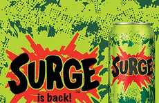 Nostalgic Soda Relaunches - Take a Trip Back to the 90s with a Sip from Surge Soda