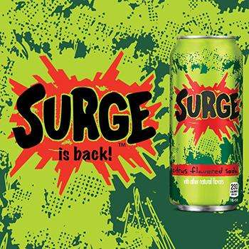 Take a Trip Back to the 90s with a Sip from Surge Soda
