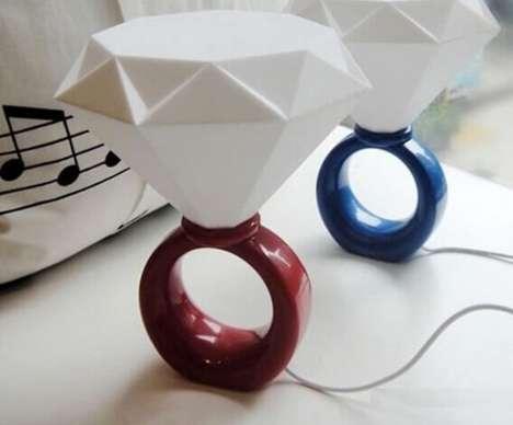 Gigantic Jewelry Lamps