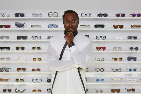 Debut Rapper Eyeglasses - The Will.i.am Eyewear Collection is Experimentally Classy