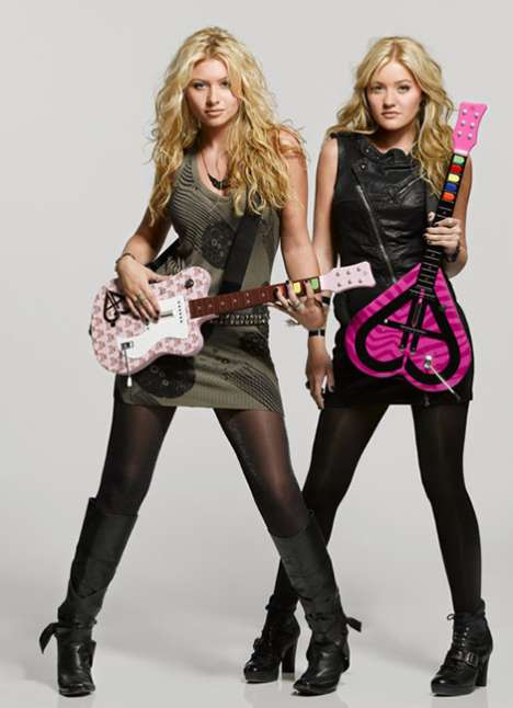 Girlie Gamers - Aly and AJ Rock Band Guitars