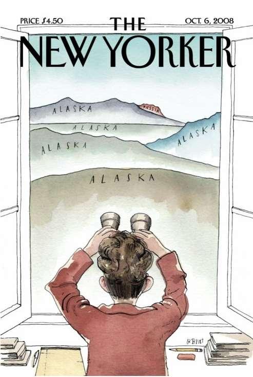 Political Magazine Satire Sarah Palin Parodied On New Yorker Cover