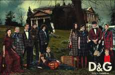 Family Portrait Fashion Ads - D & G F/W 2008