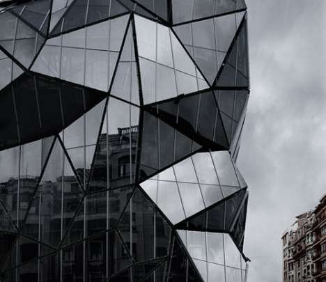 Glitter Ball-Inspired Buildings