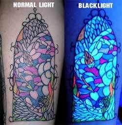 Blacklight-Reactive Body Art (UPDATE)
