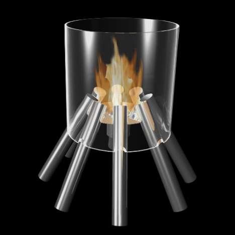 Campfire Inspired Indoor Fireplaces