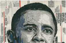"Political Magazine Collages - ""Words of Hope"" Obama Portrait"