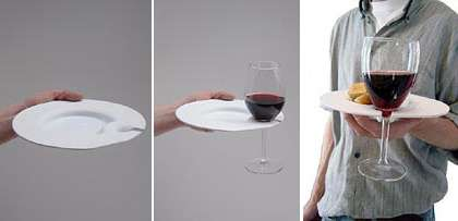 Wine Glass Holding Dishes
