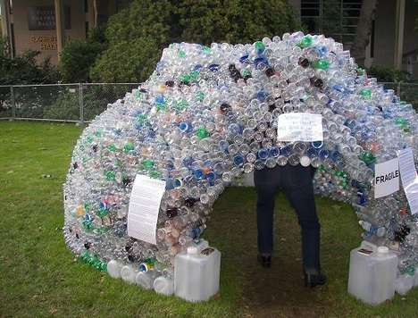 Houses Made of Plastic Bottles