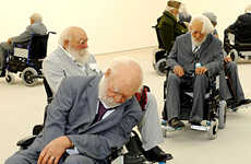 Fake Dead Seniors - Old Person's Home At The Saatchi Gallery