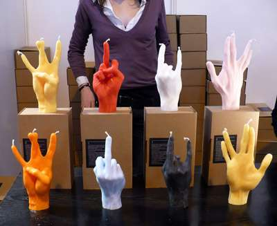 Hand Gesture Candles