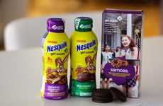 Cookie Themed Milk - NESQUIK is Offering Beverages Based on Samoa and Thin Mint Girl Scout Flavors