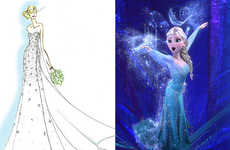 Disney Princess Bridal Gowns - Frozen Wedding Dress is Inspired by Elsa's Inner Beauty