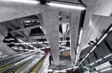 Industrial Metro Stations - Spora Architects Specifically Uses an Edgy Look in Budapest
