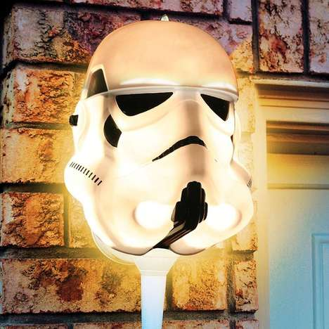 Sci-Fi Light Covers - Show Your Support for the Empire with the Stormtrooper Porch Light Cover