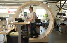 Rodent-Themed Desks - This Human Hamster Wheel Takes the Standing Desk to New Levels of Productivity